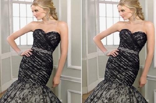 black dress for spring wedding