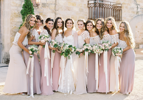 Real Bridesmaids In Our Stunning And Elegant Bridesmaid: Bridesmaid Dress Colors For Spring Wedding