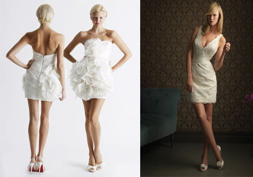 short wedding dresses spring 2014