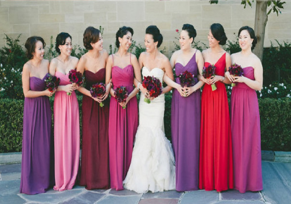 Spring color bridesmaid dresses wedding dresses asian for Spring wedding bridesmaid dress colors