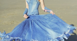 blue jean top wedding dress 1