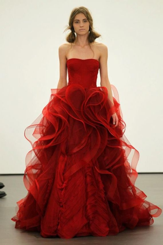 Colorful Wedding Dresses - Vera Wang